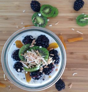 Apricot Blackberry Kiwi Overnight Quinoa