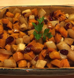 Roasted Turnips & Sweet Potatoes