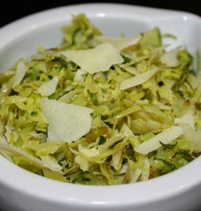 Shaved Brussels Sprouts with Olive Oil & Parmigiano
