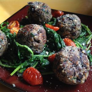 "Black Bean ""Meatballs"""