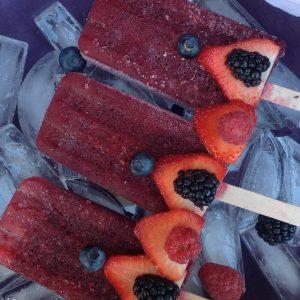 Plum Berry Popsicles