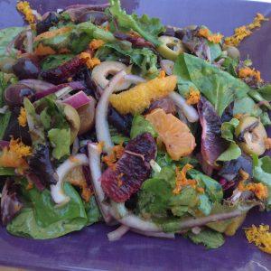 Citrusy Spring Greens Salad